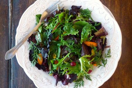 Зимний зеленый салат