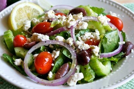 Рецепт: греческий салат