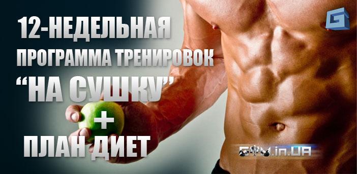 """Сжигаем жир за 12 недель: Программа Тренировок на """"Сушку"""" и План Диет"""
