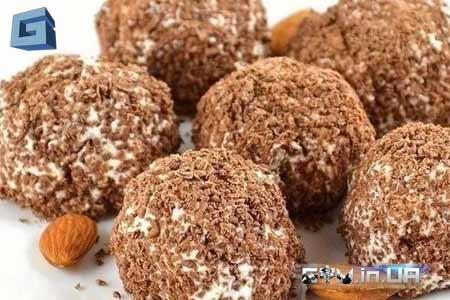 Рецепт: творожные шарики в черном шоколаде