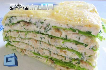 Рецепт: Белковый низкокалорийный торт