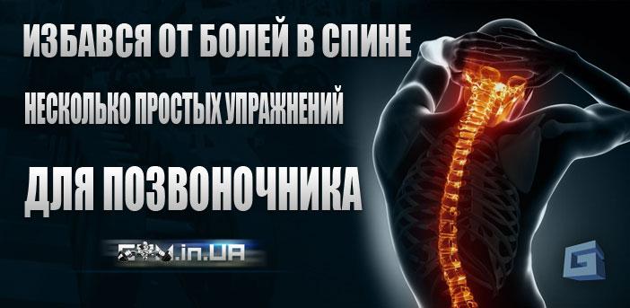 Избався от болей в спине - несколько простых упражнений для позвоночника