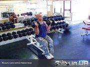 Упражнение: Подъем гантелей на бицепс сидя