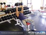 Упражнение: Сведение рук с гантелями на скамье с положительным наклоном (разводки на наклонной)
