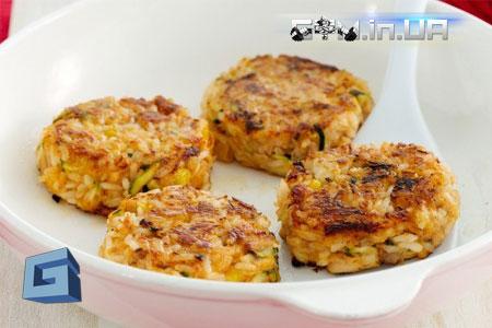 Рецепты: Запеченые рисовые котлеты с тунцом