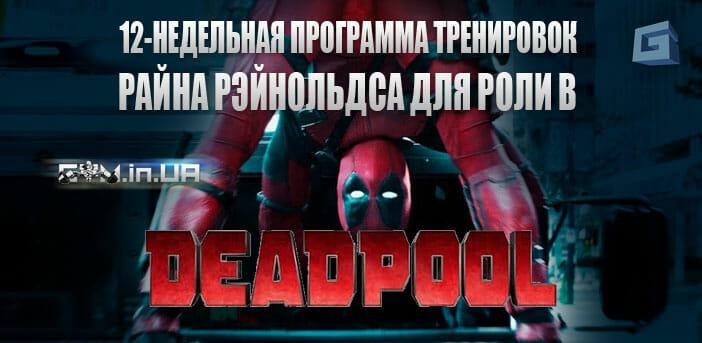 12-недельная программа тренировок Райана Рэйнольдса для роли в Deadpool