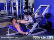 Упражнение: Жим ногами широкой постановкой ног