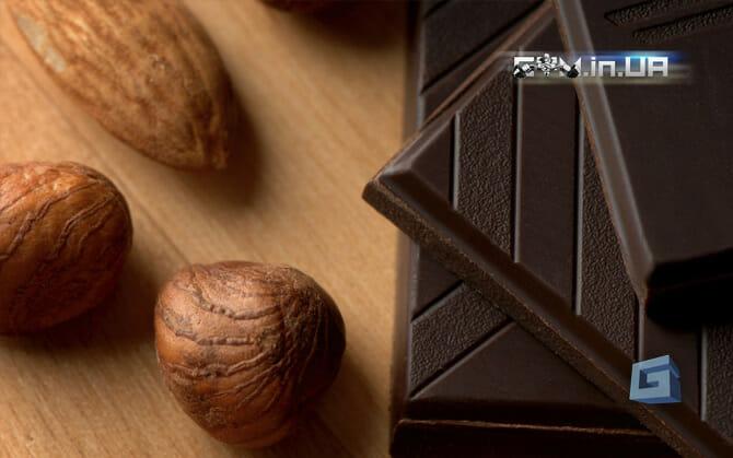 Орехи и чёрный шоколад