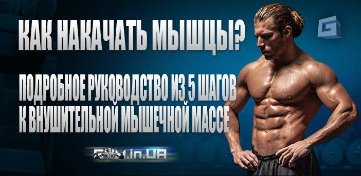 Как накачать мышцы?: Подробное руководство из 5 шагов к внушительной мышечной массе