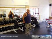 Упражнение: Шраги со штангой из-за спины