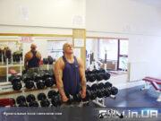 Упражнение: Фронтальные махи гантелями стоя