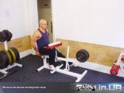 Упражнение: Подъем на носки поочередно сидя