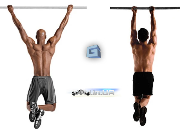 Wide and narrow pull ups